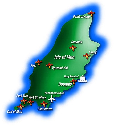 Isle of Man Ferry Port Map