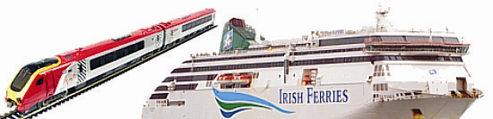 FerryTO Rail and Sail with Steanline and Irish Ferries