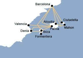Balearia Route Map